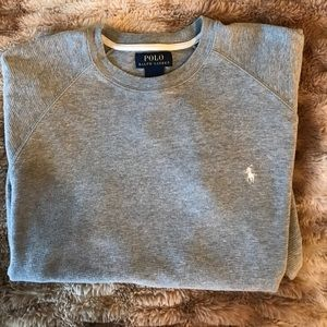 GRAY POLO RALPH LAUREN LONG SLEEVE SHIRT